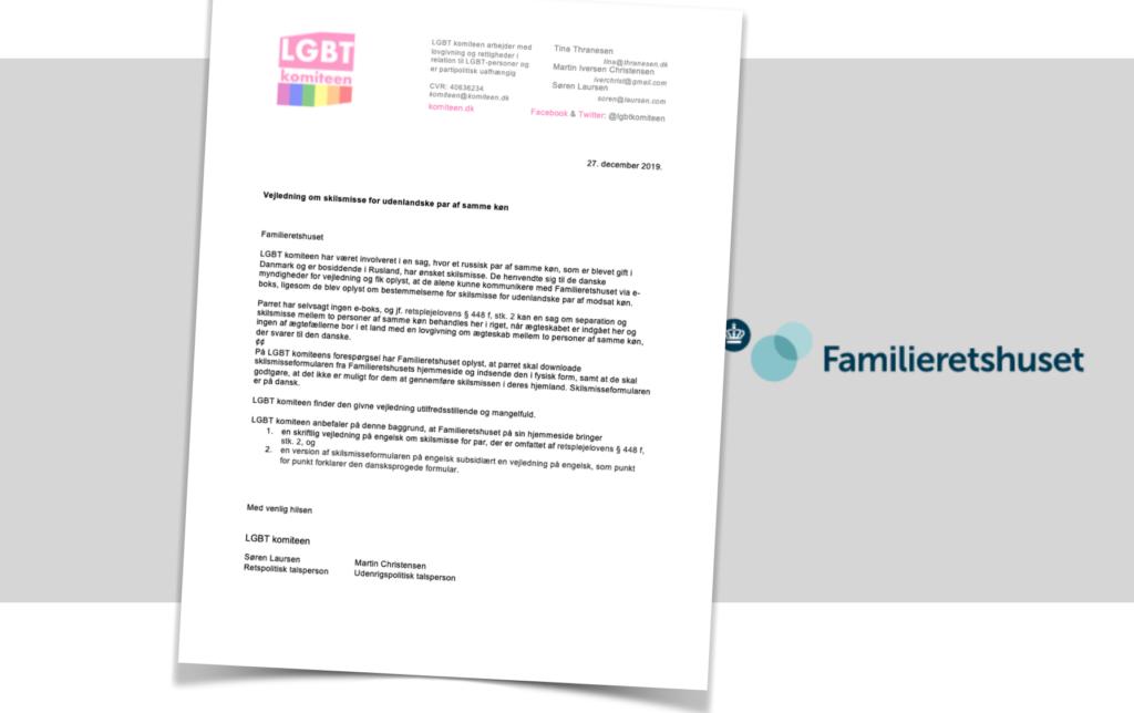 Skilsmisse for udenlandske par af samme køn