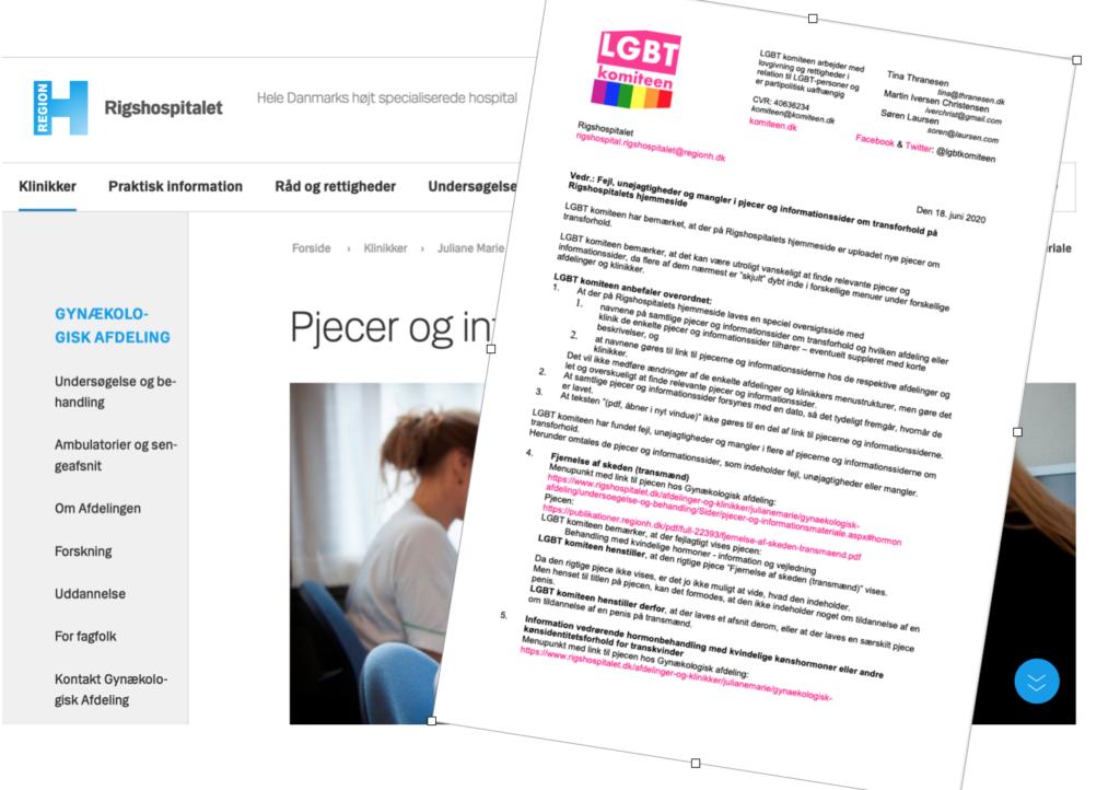 CKI-Rigshospitalet imødekommer kritik fra LGBT komiteen