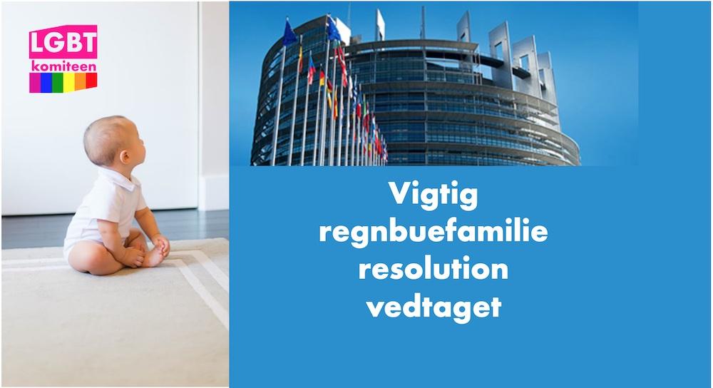 Europa-Parlamentet vedtager vigtig regnbuefamilie resolution